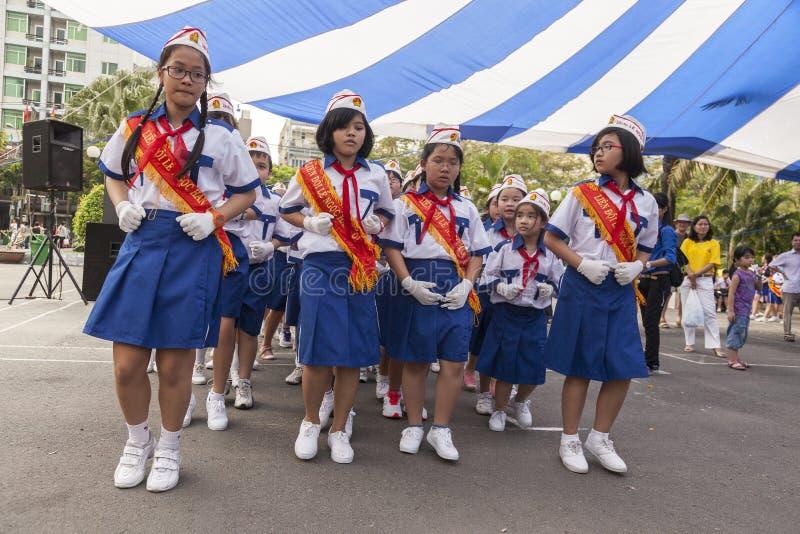 越南学校孩子 库存图片