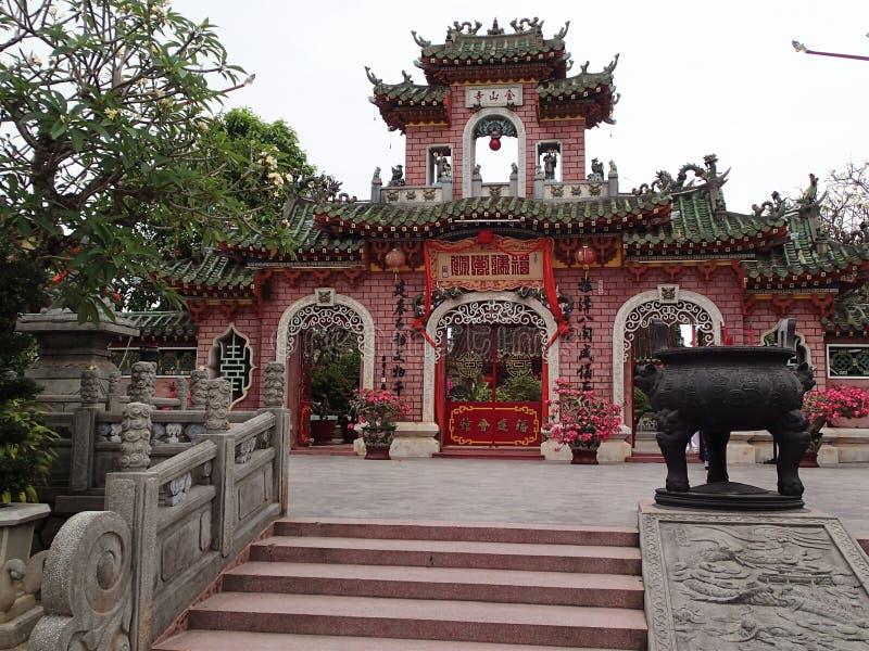 越南寺庙在会安市-越南 库存照片