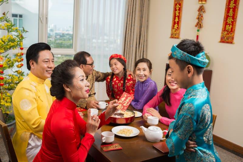 越南新年庆祝 免版税库存照片