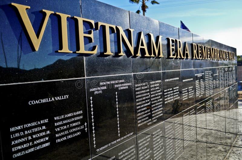 越南时代Rememberence墙壁 免版税库存照片