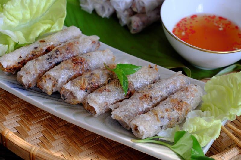 越南春卷酥皮点心 免版税库存图片