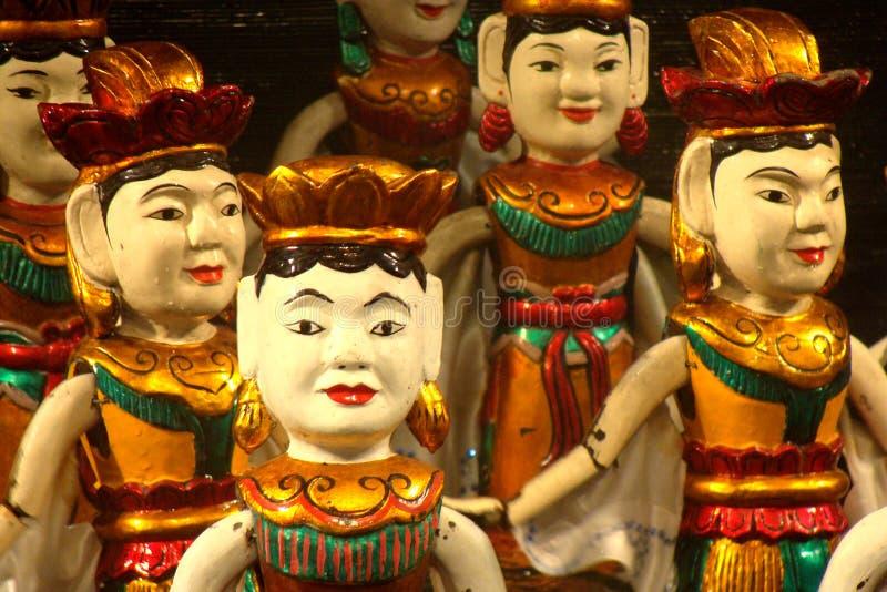 越南水木偶 图库摄影