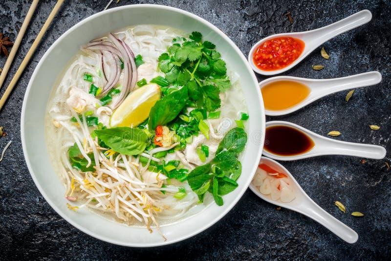 越南汤Pho GA 免版税库存图片