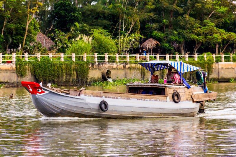 越南河船 免版税库存照片