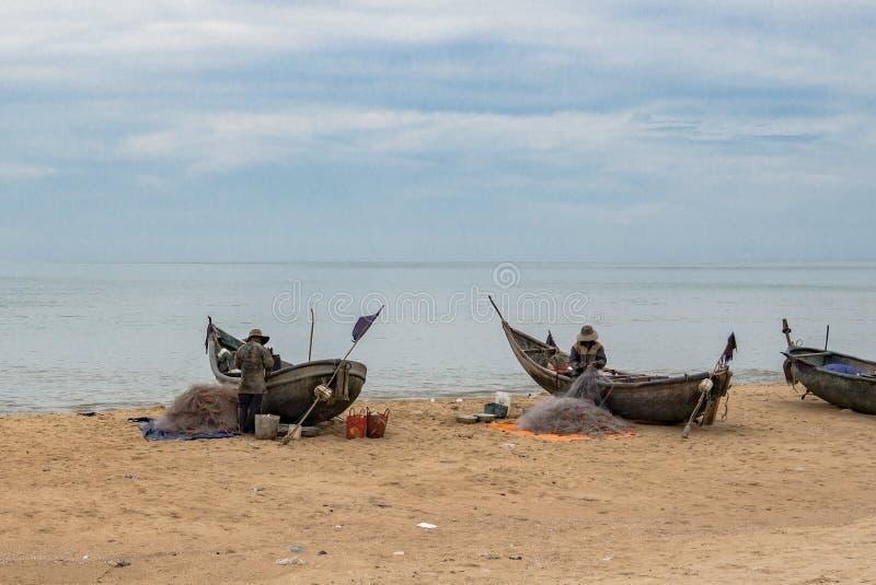 越南渔夫工作 库存图片