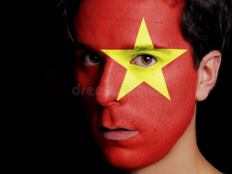 越南的旗子 免版税库存照片