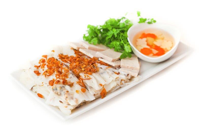 越南米薄煎饼滚动用虾 免版税图库摄影
