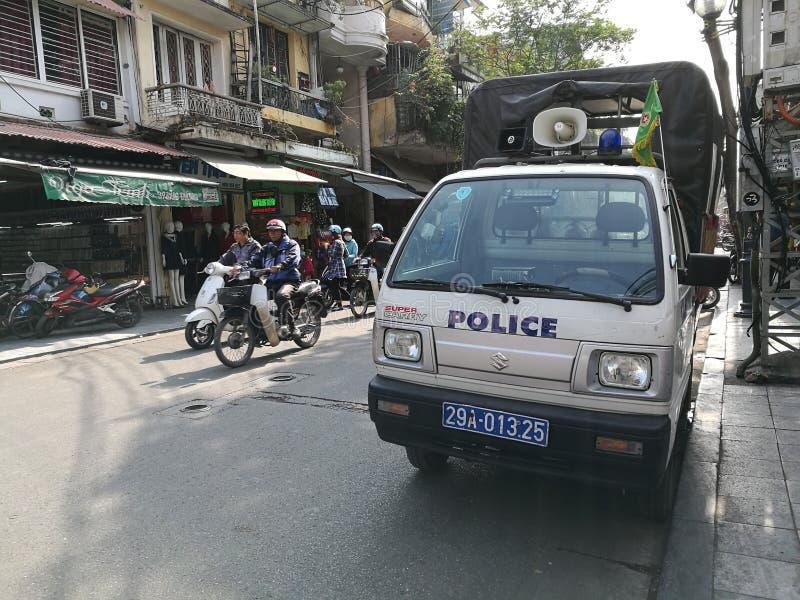 越南警察警卫卡车 免版税图库摄影