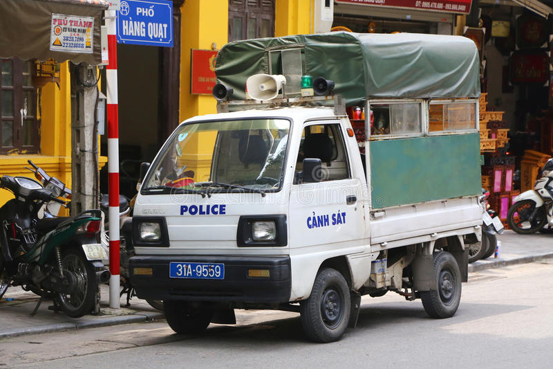 越南警察 免版税图库摄影