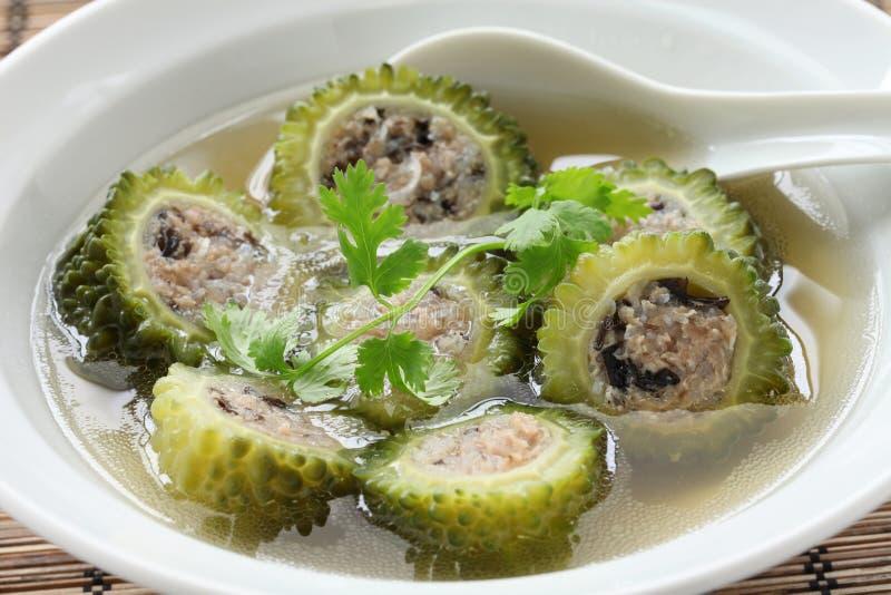 越南语被充塞的苦涩瓜汤 免版税库存照片