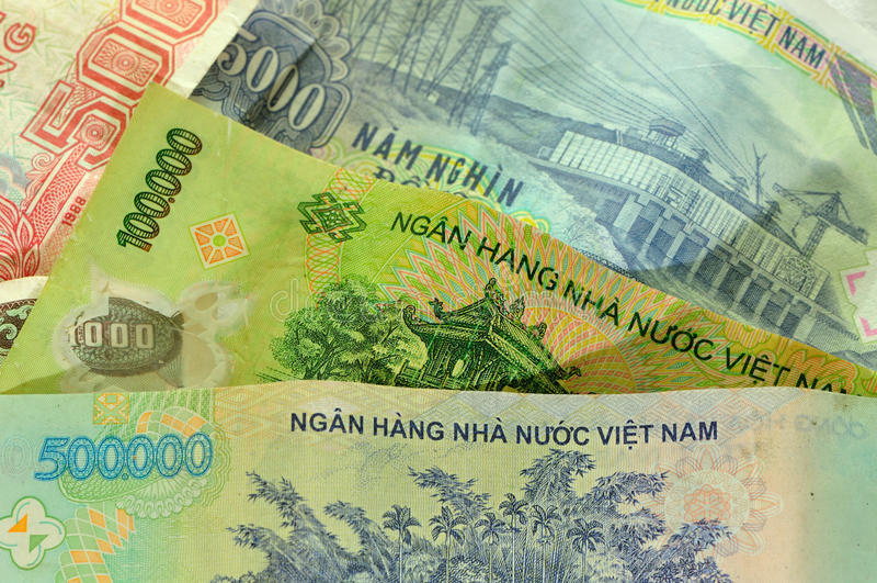 越南金钱 库存图片