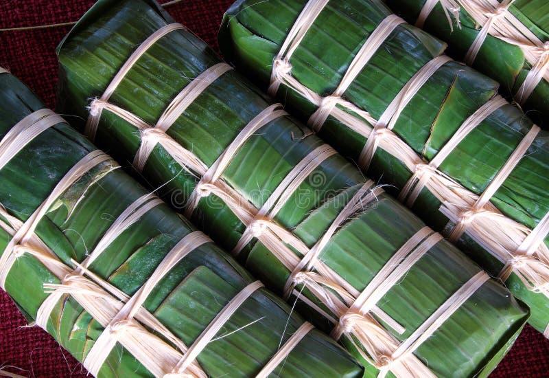 越南食物,传统食物,越南banh tet 库存图片