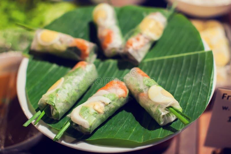 越南食物, banh钟, banh tet是传统吃  免版税库存图片