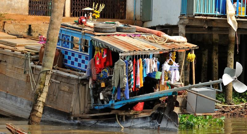 越南,湄公河三角洲 免版税库存照片