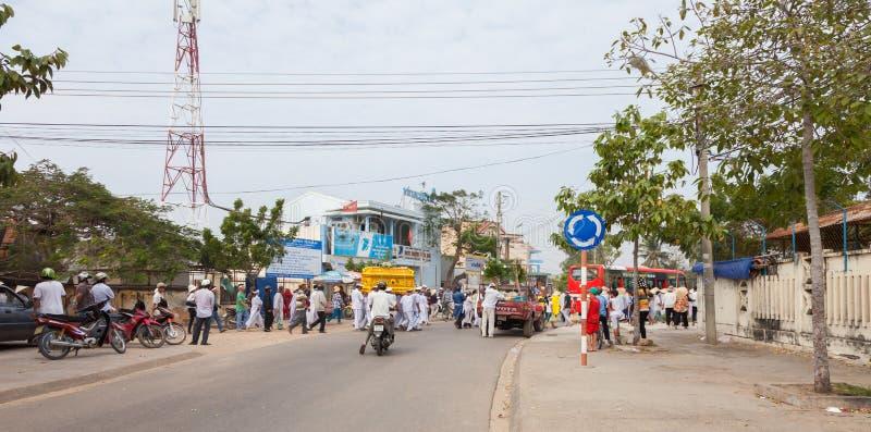 越南,美奈 越南出殡队伍 免版税库存照片