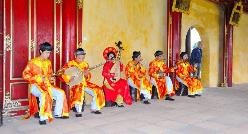 越南,颜色故宫 免版税库存照片