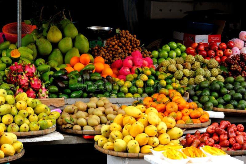 越南,水果市场会安市 免版税库存照片