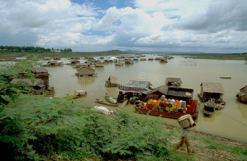 越南:鱼&螃蟹产业在越南是安静成功的 库存图片
