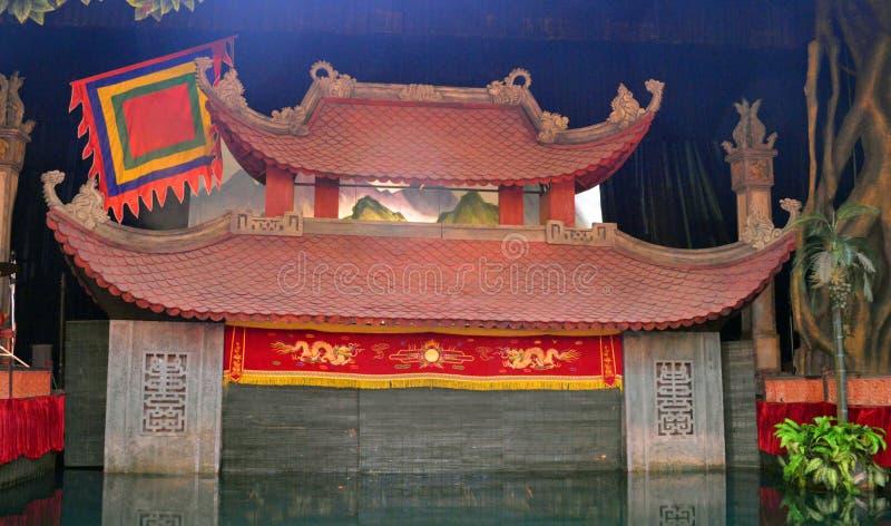 越南-河内- thang长的水木偶剧院 库存图片