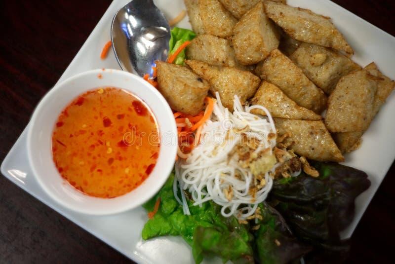 越南Fishcakes 免版税图库摄影