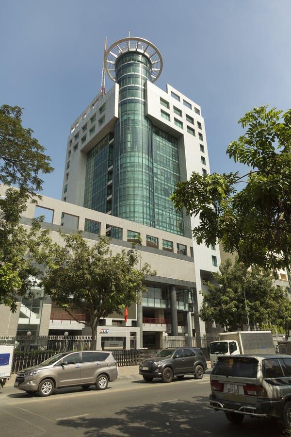 越南HTV电视总部在胡志明市 图库摄影