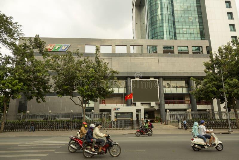 越南HTV电视总部在胡志明市 免版税库存照片