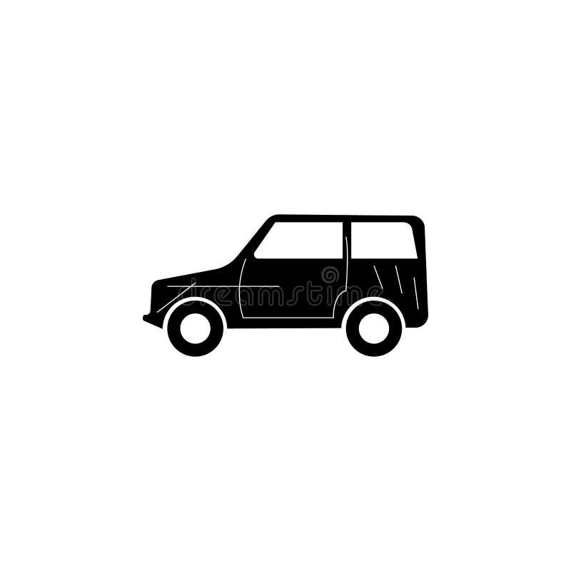 越野汽车象 汽车类型简单的象 运输元素象 优质质量图形设计 标志,概述标志汇集 向量例证