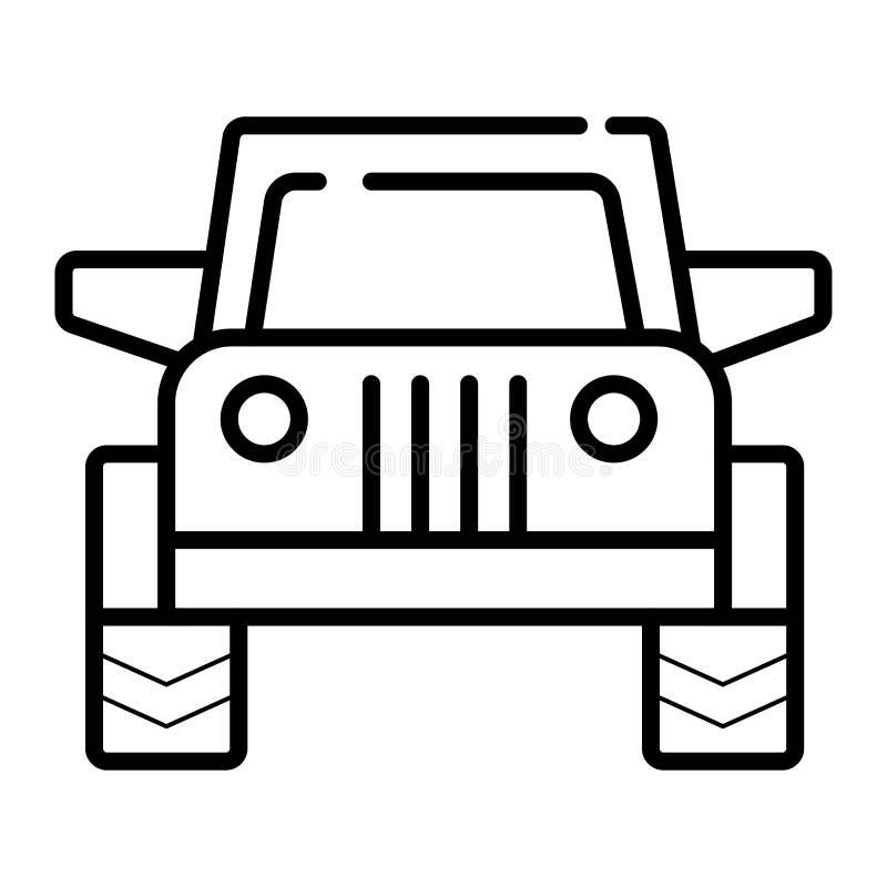 越野汽车 在白色背景的唯一平的象 库存例证