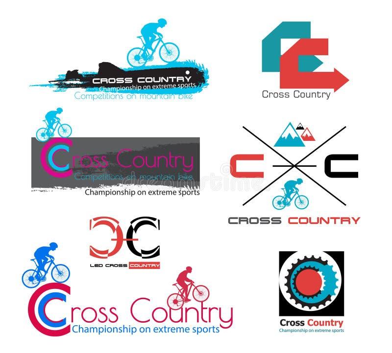 越野自行车商标 登山车标志 皇族释放例证