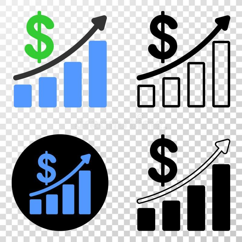 趋向图传染媒介EPS象的赢利与等高版本 向量例证