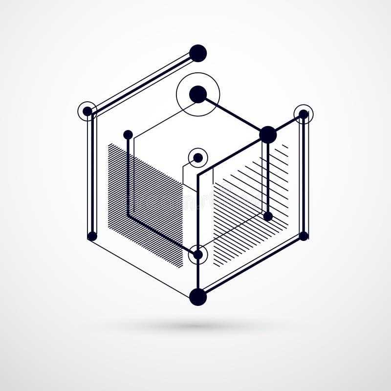 趋向等量几何样式黑白背景机智 库存例证