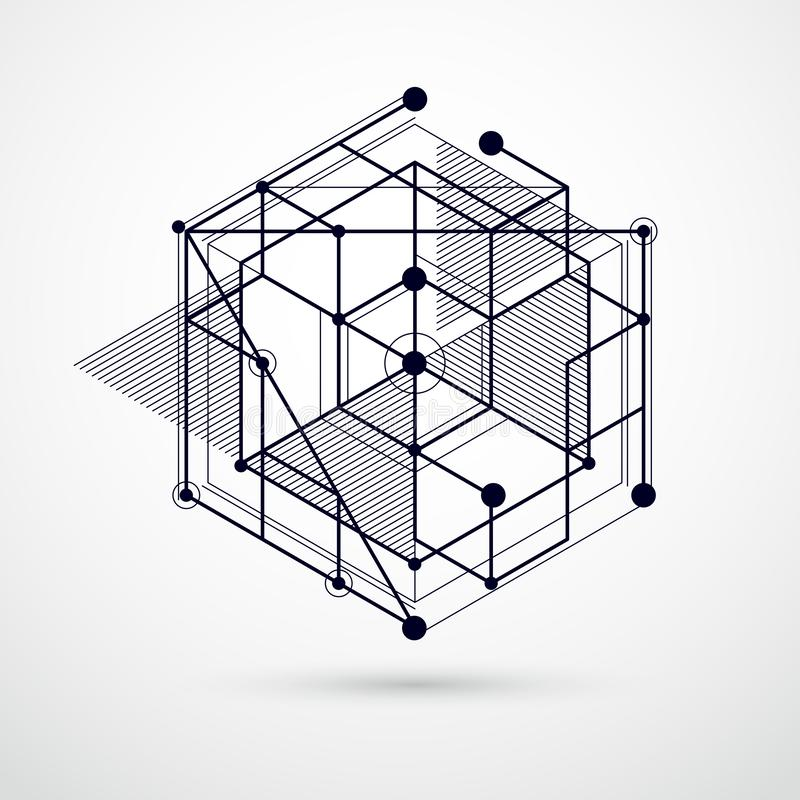 趋向等量几何样式黑白背景机智 皇族释放例证