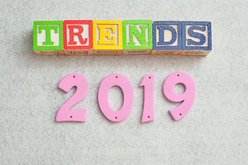 趋向2019年 免版税库存图片