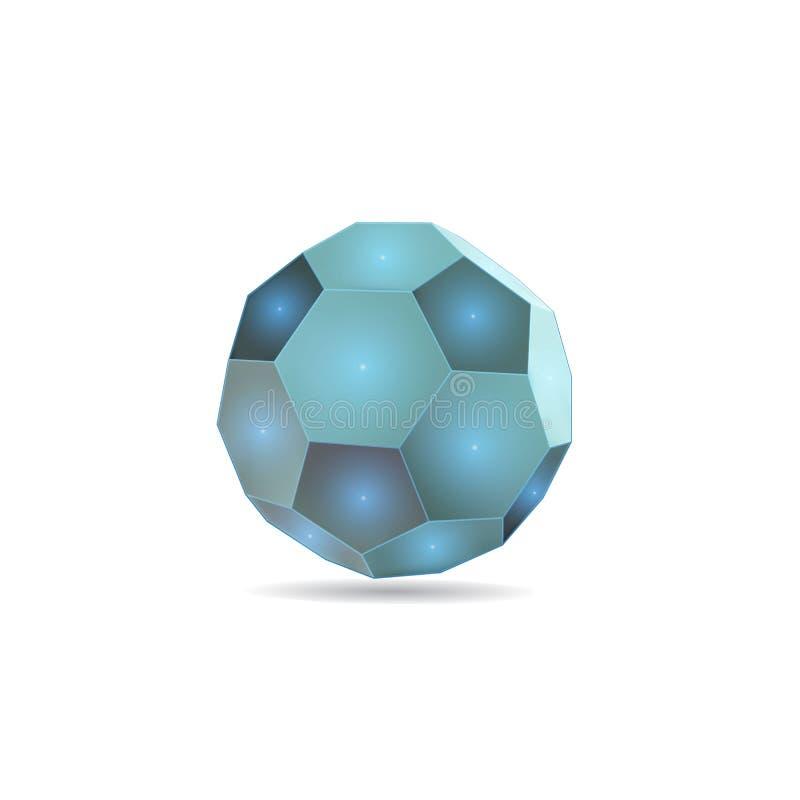 足球三角测量低地板,在白色背景, 向量例证