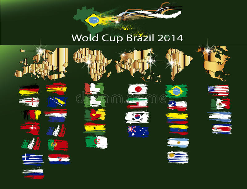 足球世界杯巴西2014年 免版税库存图片
