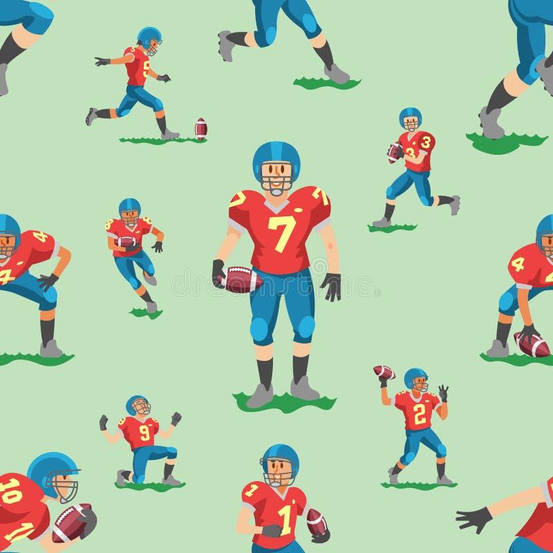 足球传染媒介足球运动员teamleader上尉或soccerplayer字符在使用与soccerball的运动服在橄榄球 库存例证