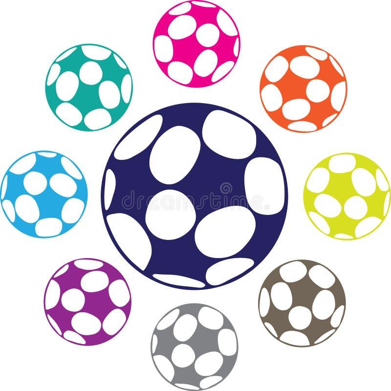 足球传染媒介 皇族释放例证