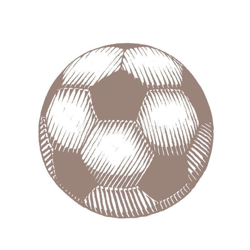 足球例证布朗向量化墨水剪影  向量例证
