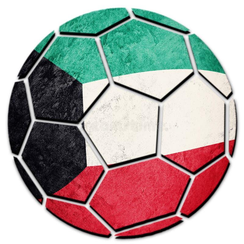 足球全国科威特旗子 科威特橄榄球球 库存照片
