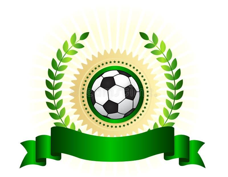 足球冠军商标盾 库存例证