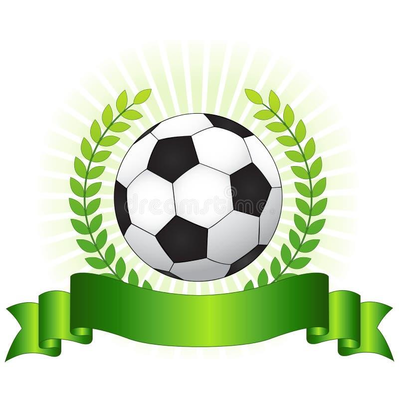 足球冠军概念 皇族释放例证
