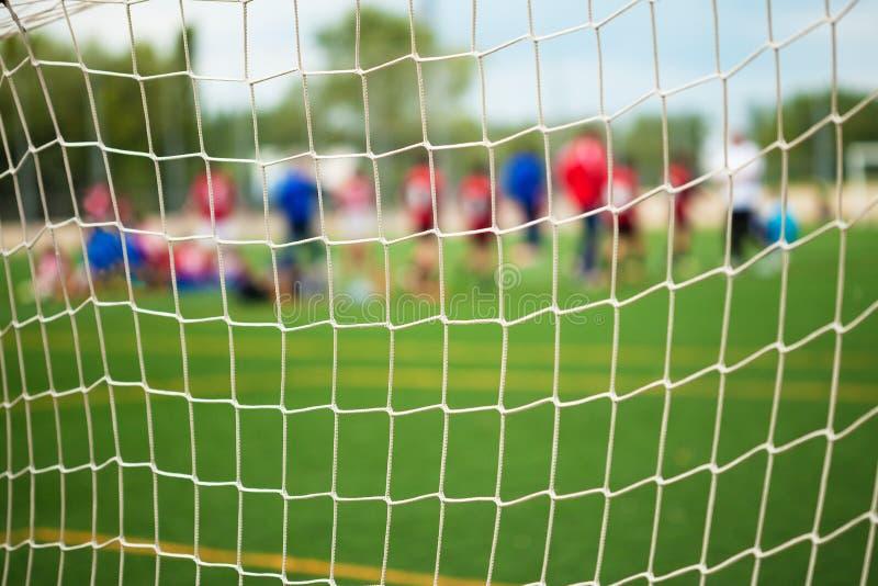 足球净选择聚焦 库存图片
