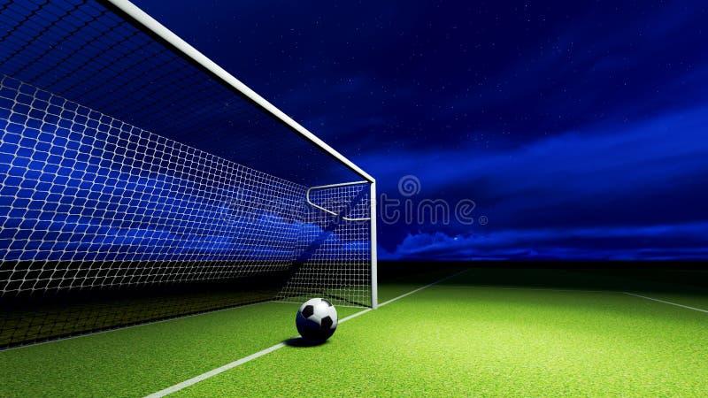 足球和目标 库存照片