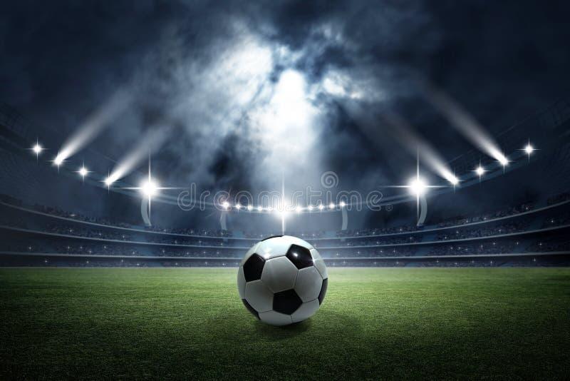 足球在体育场内 免版税库存照片