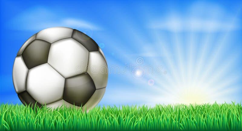 足球在沥青的橄榄球球 皇族释放例证