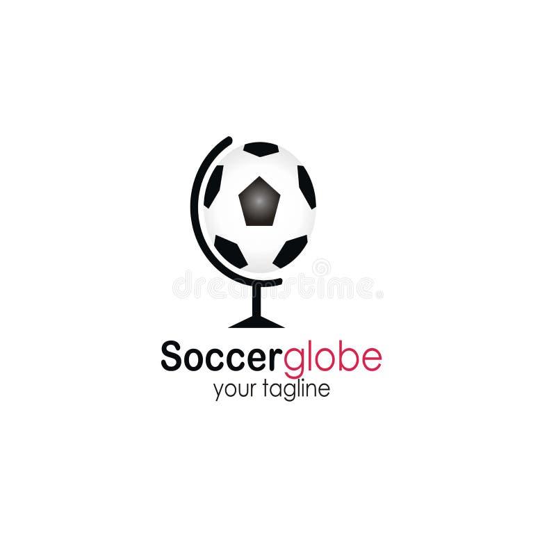足球地球商标设计传染媒介 向量例证