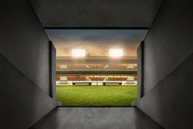 足球场入口看法  库存照片