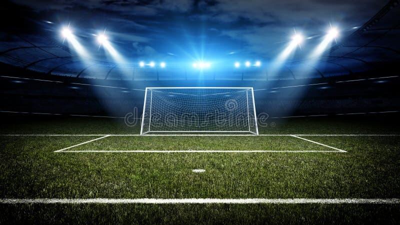 足球场和目标岗位 皇族释放例证