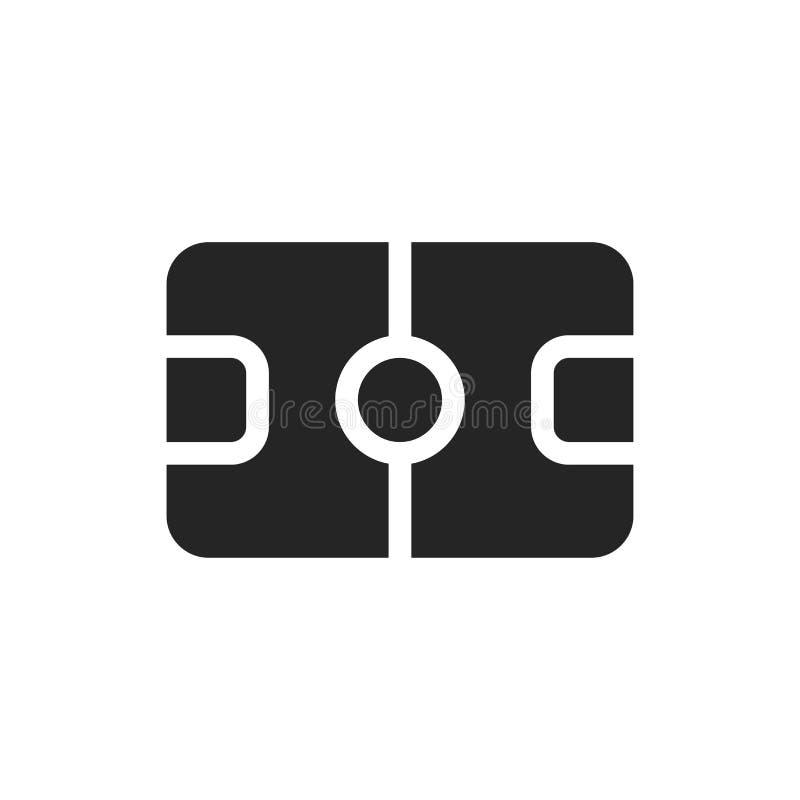 足球场象 在白色背景隔绝的橄榄球标志 图表的现代,简单的标志和网络设计 库存例证