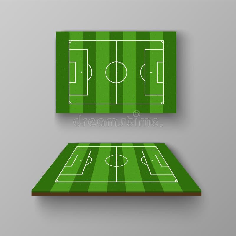 足球场,在透视图的橄榄球场 皇族释放例证